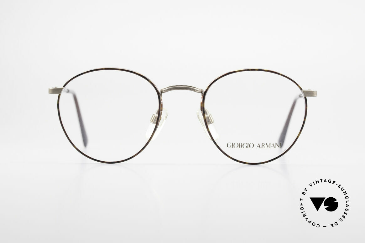 Giorgio Armani 166 No Retro Glasses 80's Panto, a timeless 1980's model in tangible premium quality, Made for Men
