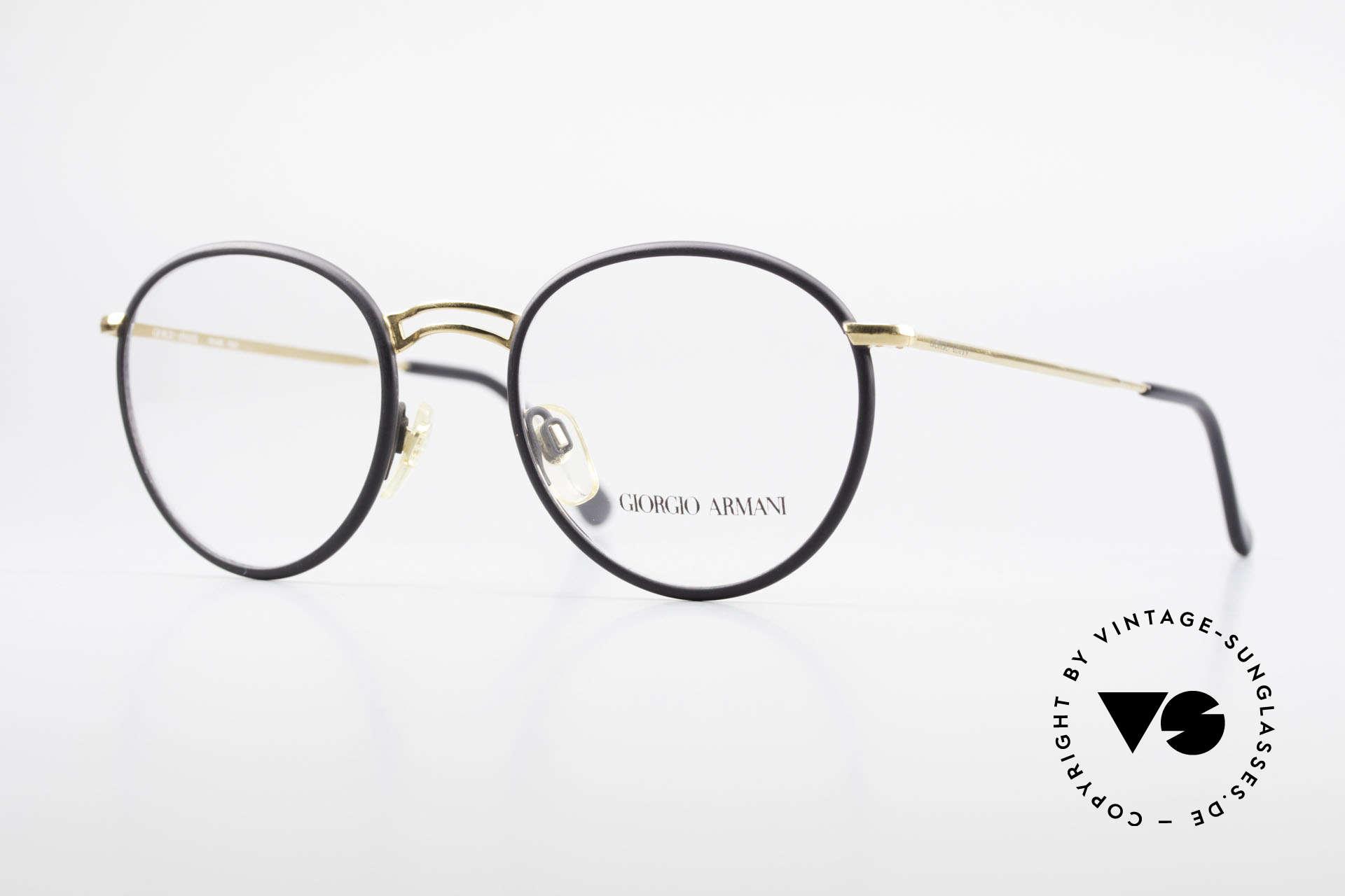 Giorgio Armani 152 Classic Round Vintage Frame, timeless vintage Giorgio Armani designer eyeglasses, Made for Men