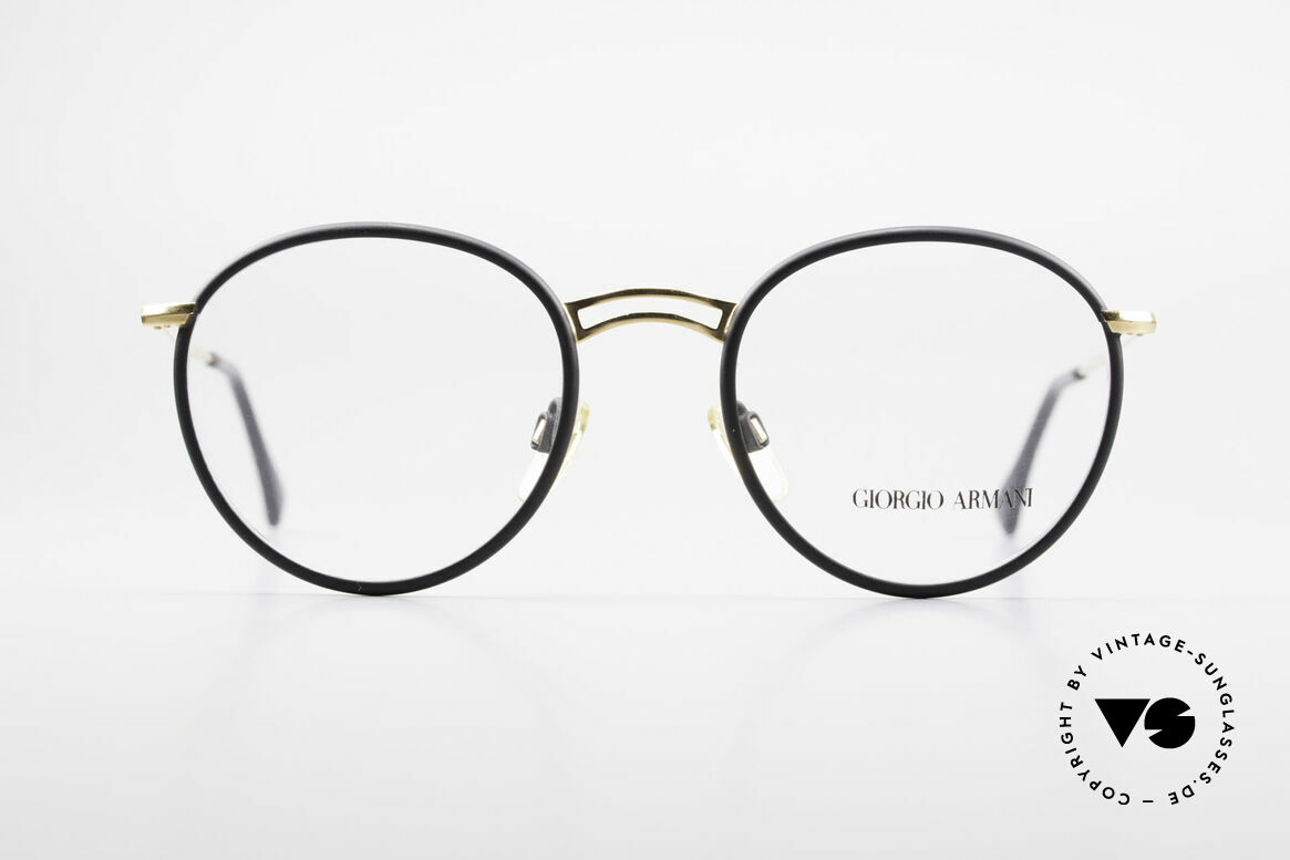 Giorgio Armani 152 Classic Round Vintage Frame, more 'classic' isn't possible (famous 'PANTO'-design), Made for Men