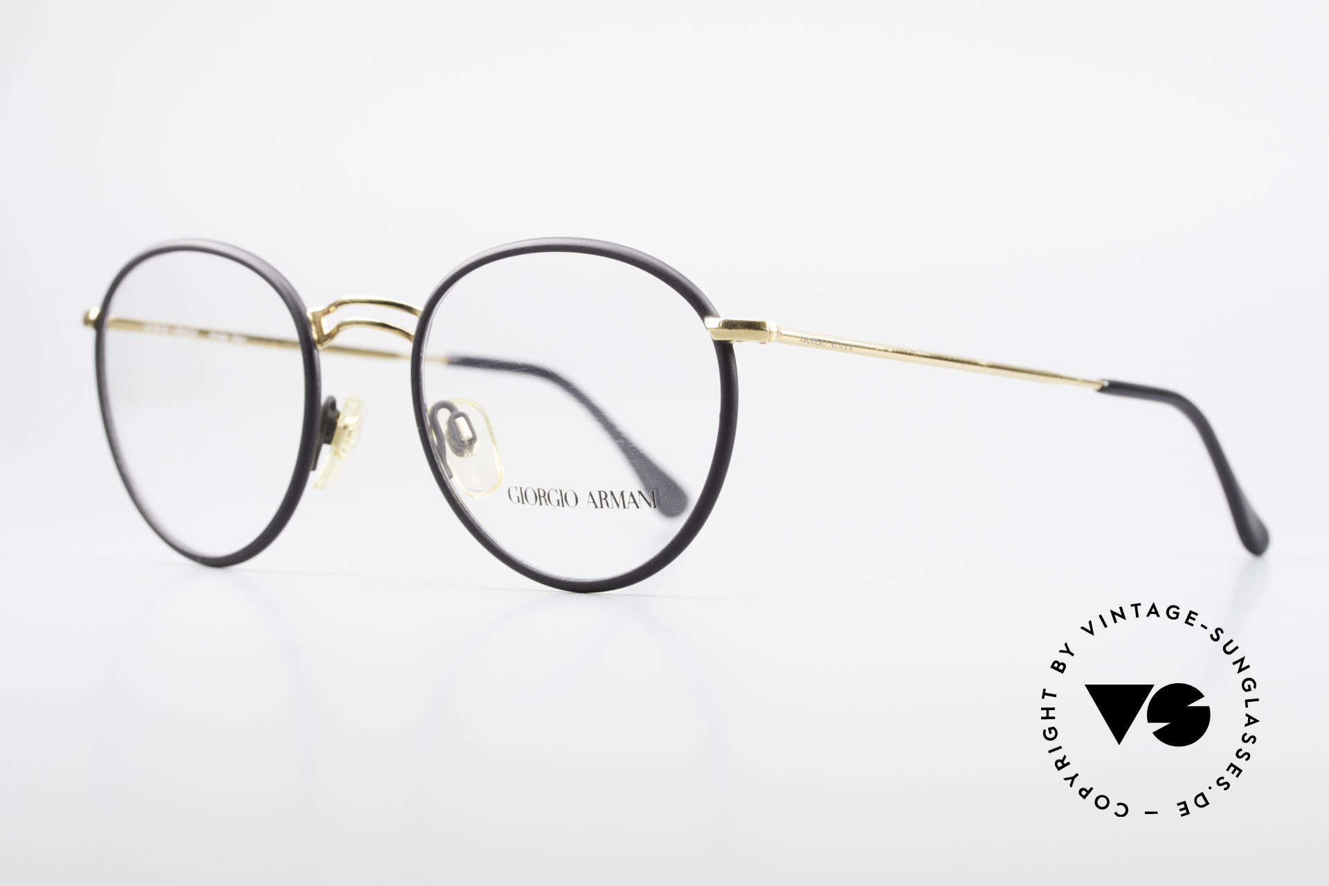 Giorgio Armani 152 Classic Round Vintage Frame, true 'gentlemen eyeglass-frame' in top-notch quality, Made for Men