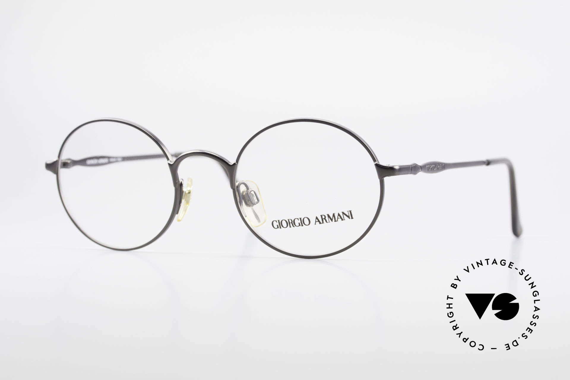 Giorgio Armani 243 Small Round Oval Glasses 90s, vintage designer eyeglasses by GIORGIO Armani, Made for Men and Women