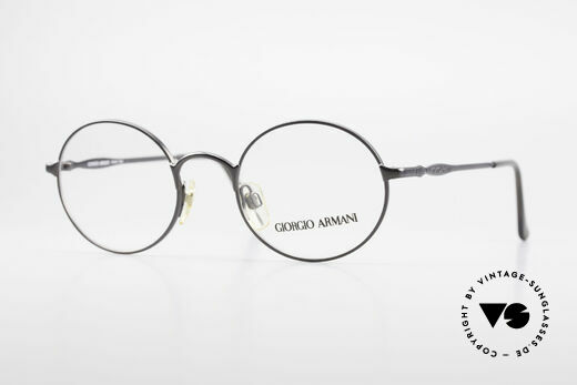 Giorgio Armani 243 Small Round Oval Glasses 90s Details