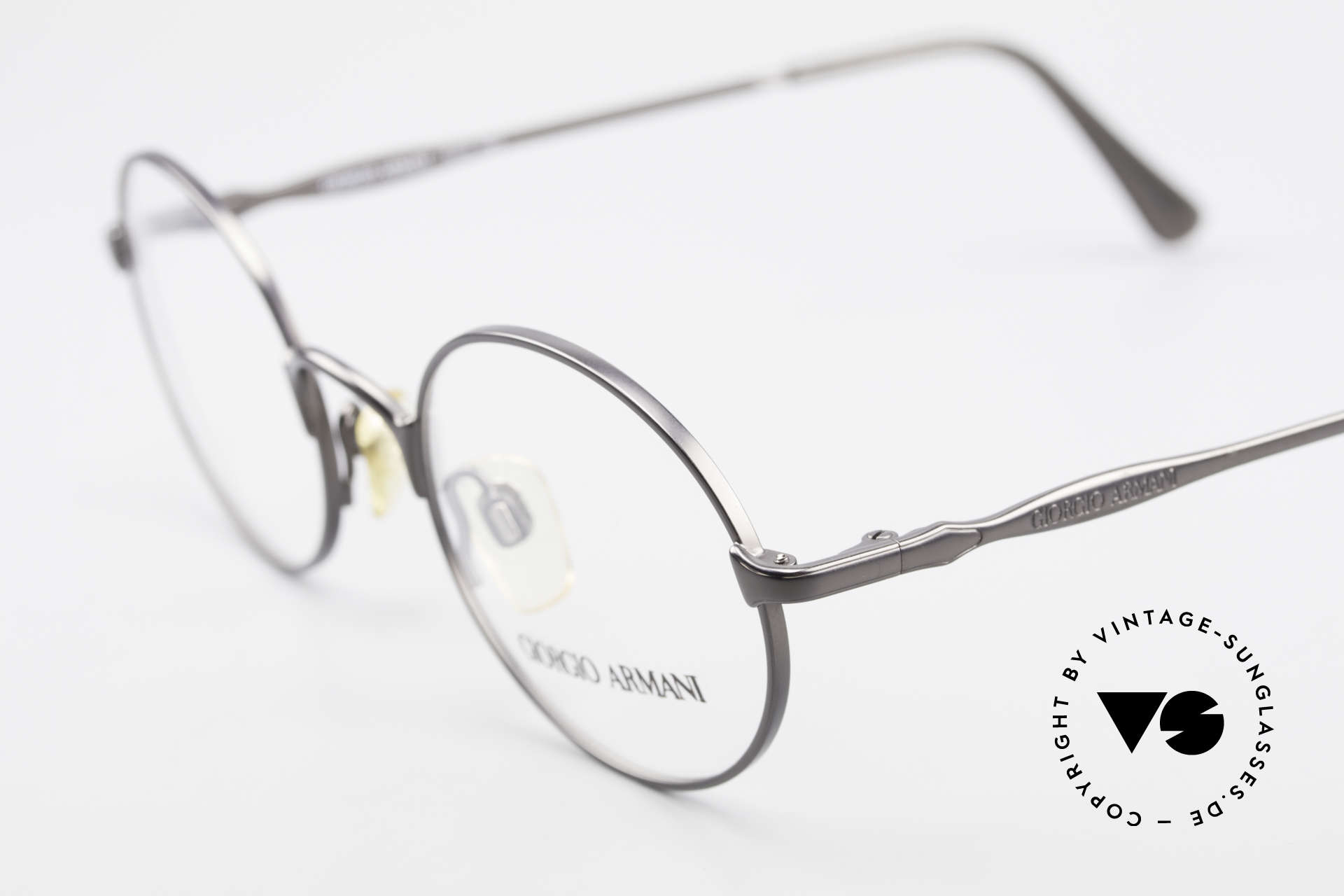 Giorgio Armani 243 Small Round Oval Glasses 90s, never worn (like all our 1990's designer classics), Made for Men and Women