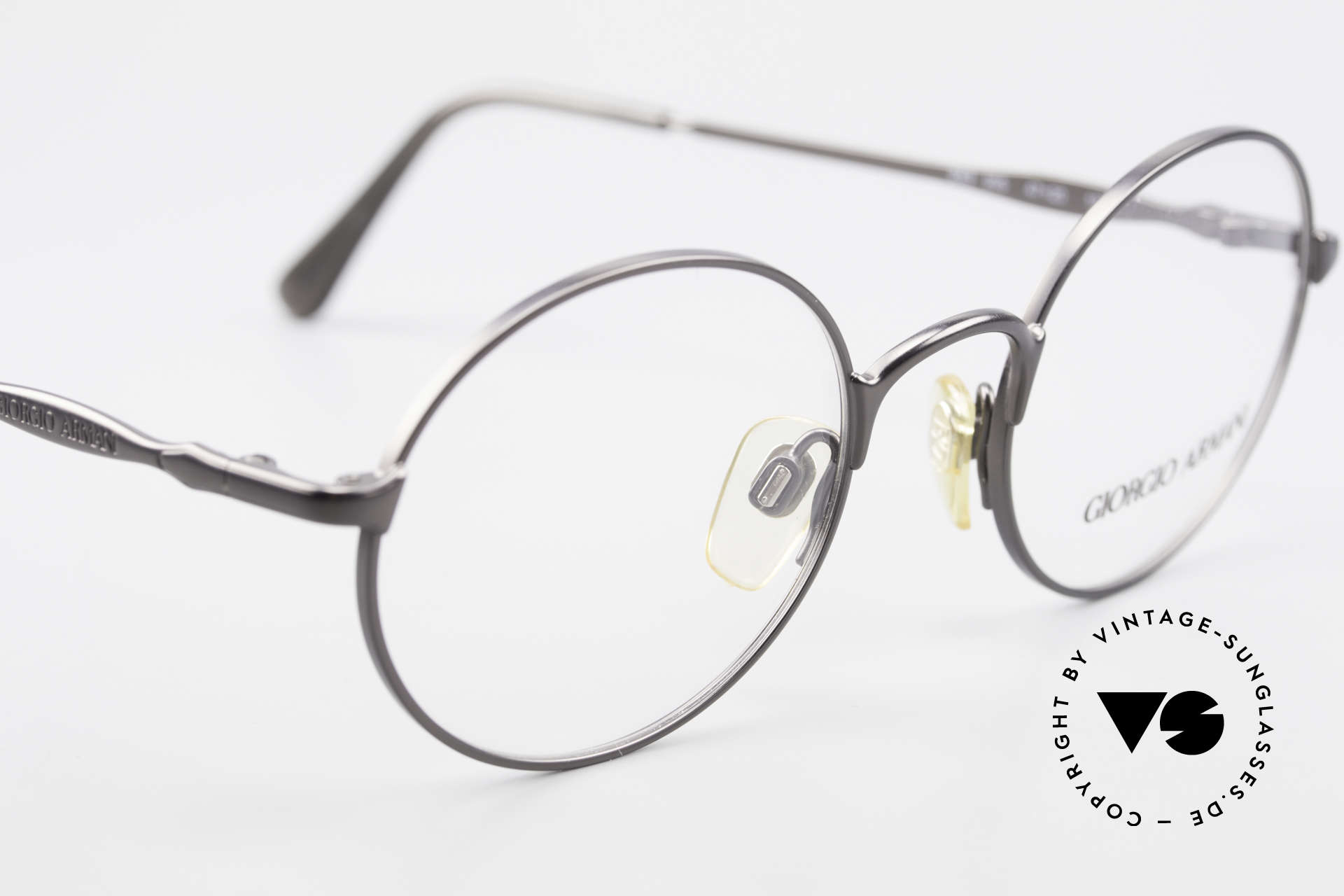 Giorgio Armani 243 Small Round Oval Glasses 90s, NO recent collection, but a 25 years old ORIGINAL, Made for Men and Women