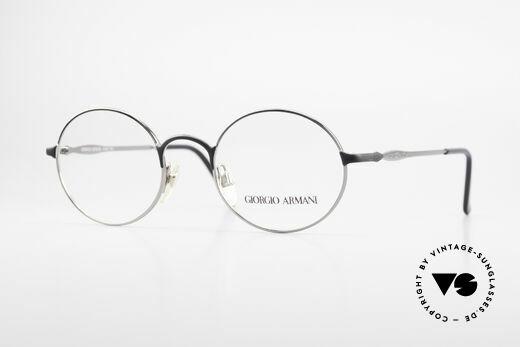 Giorgio Armani 243 Round Oval Glasses 90s Small Details