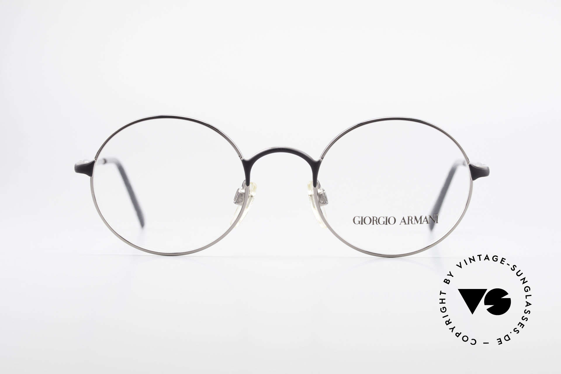 Giorgio Armani 243 Round Oval Glasses 90s Small, discreet round framework in SMALL size (122mm), Made for Men and Women