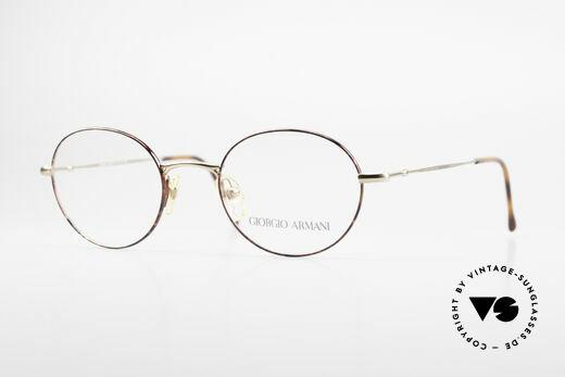 Giorgio Armani 252 Oval Vintage Eyeglasses 90's Details