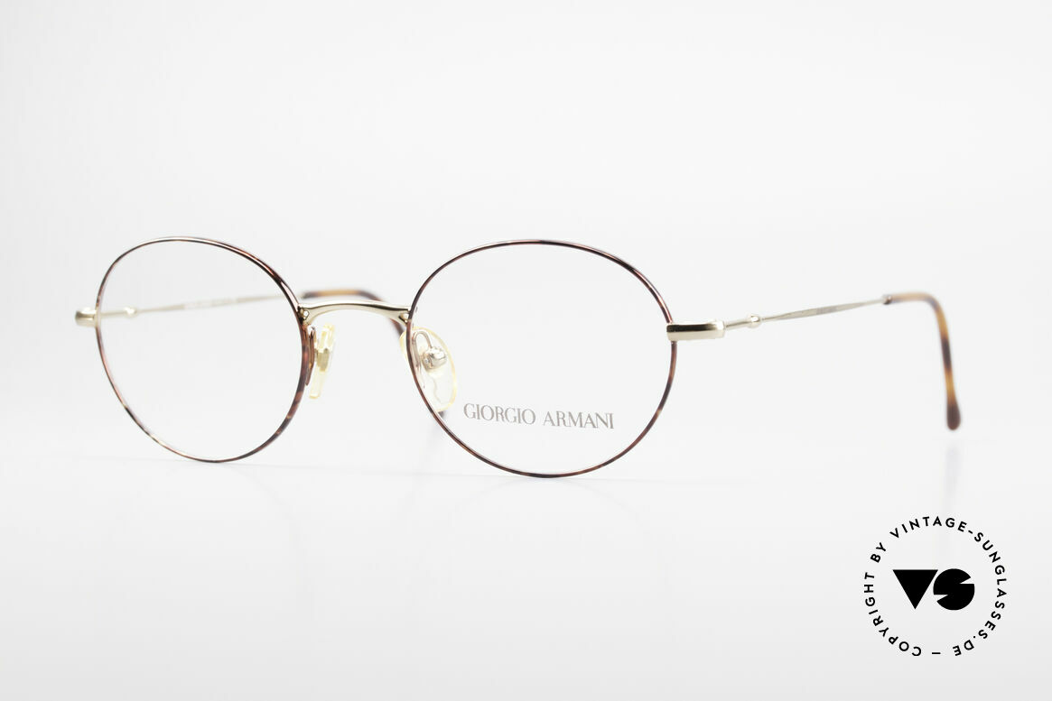 Giorgio Armani 252 Oval Vintage Eyeglasses 90's, oval designer eyeglass-frame by GIORGIO Armani, Made for Men and Women