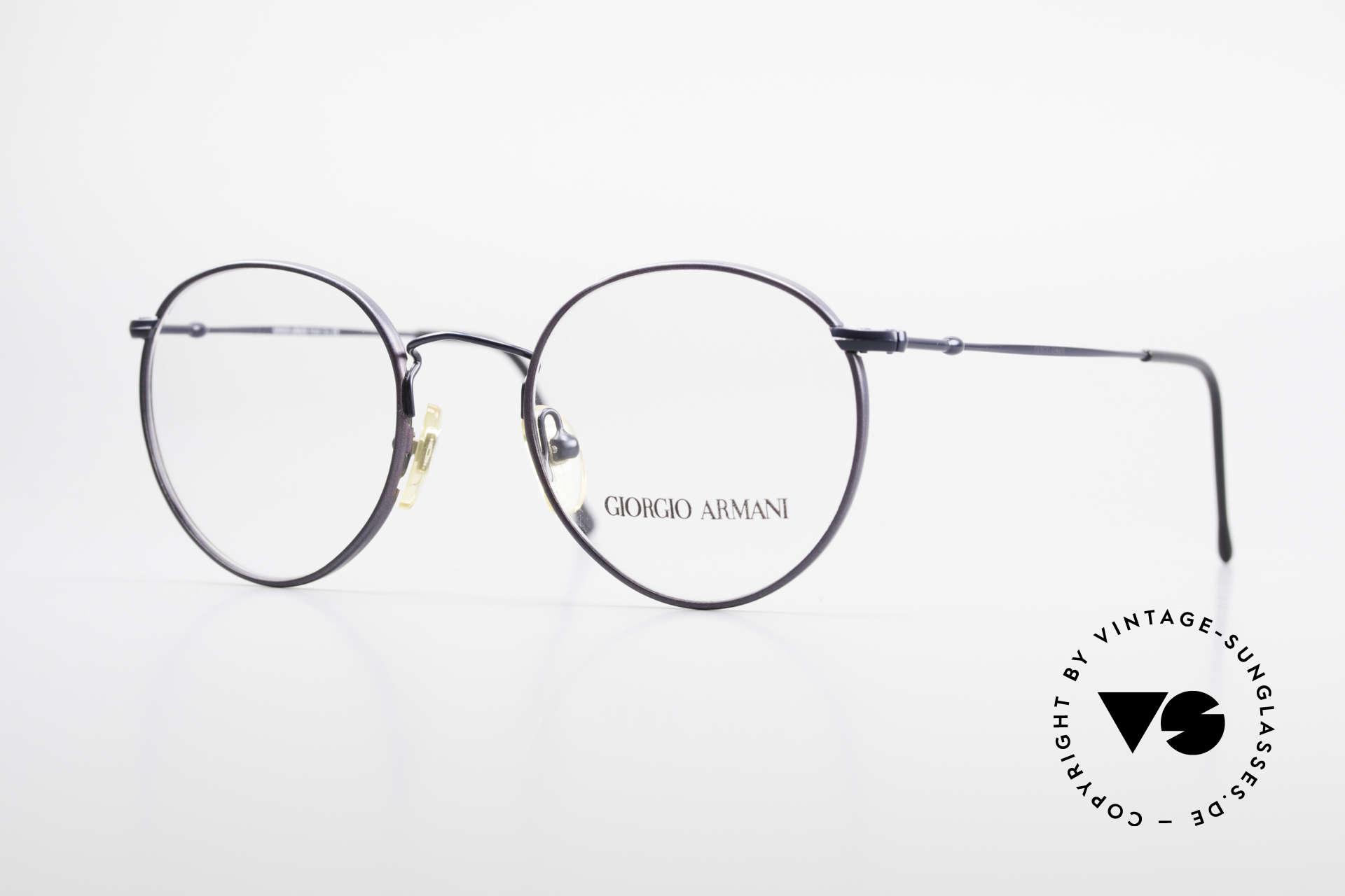 Giorgio Armani 253 Panto Vintage Frame Classic, timeless vintage Giorgio Armani designer eyeglasses, Made for Men