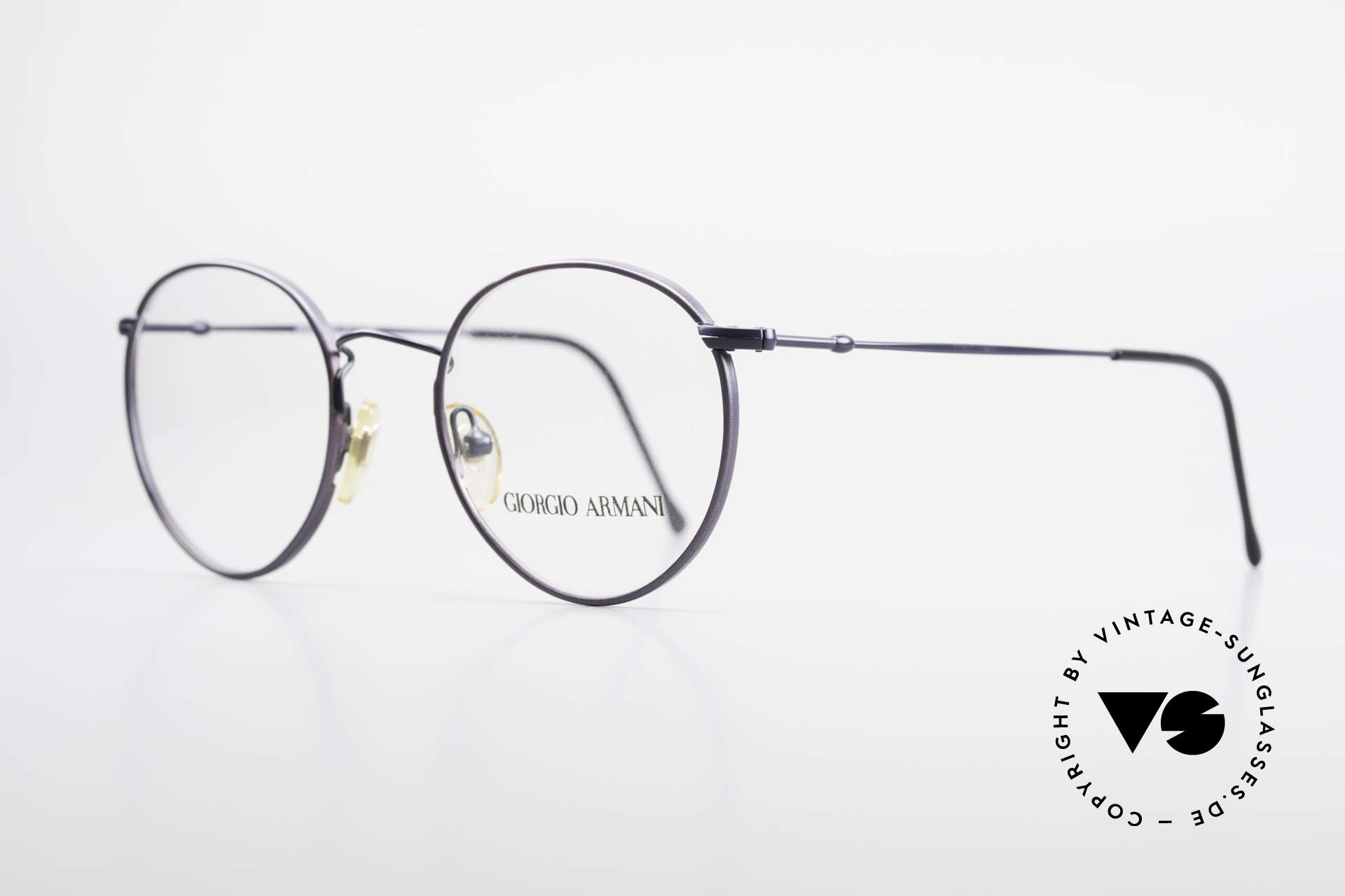Giorgio Armani 253 Panto Vintage Frame Classic, terrific frame finish in a kind of dark BLUE metallic, Made for Men