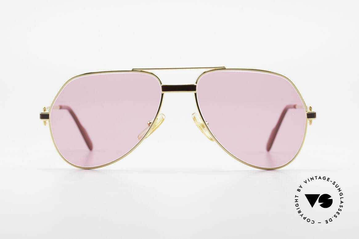 """Cartier Vendome Laque - S 80's Luxury Sunglasses Pink, mod. """"Vendome"""" was launched in 1983 & made till 1997, Made for Men and Women"""