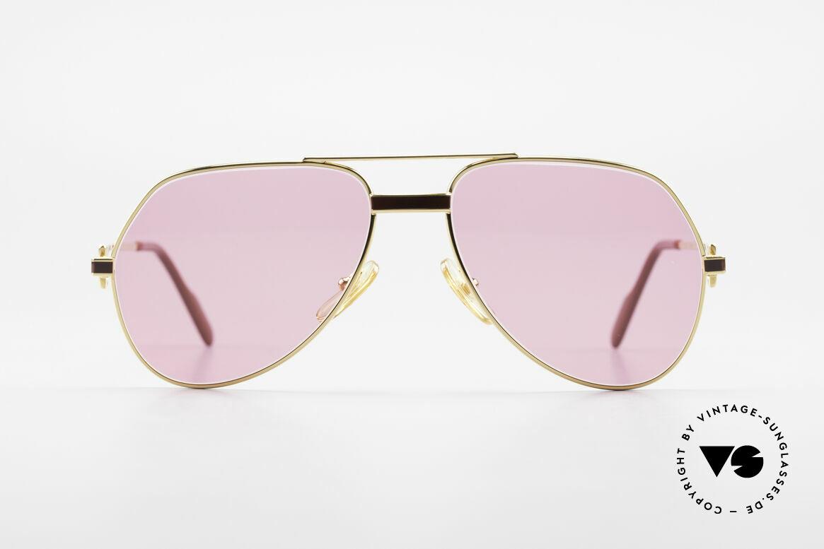 Cartier Vendome Laque - S 80's Luxury Sunglasses Pink