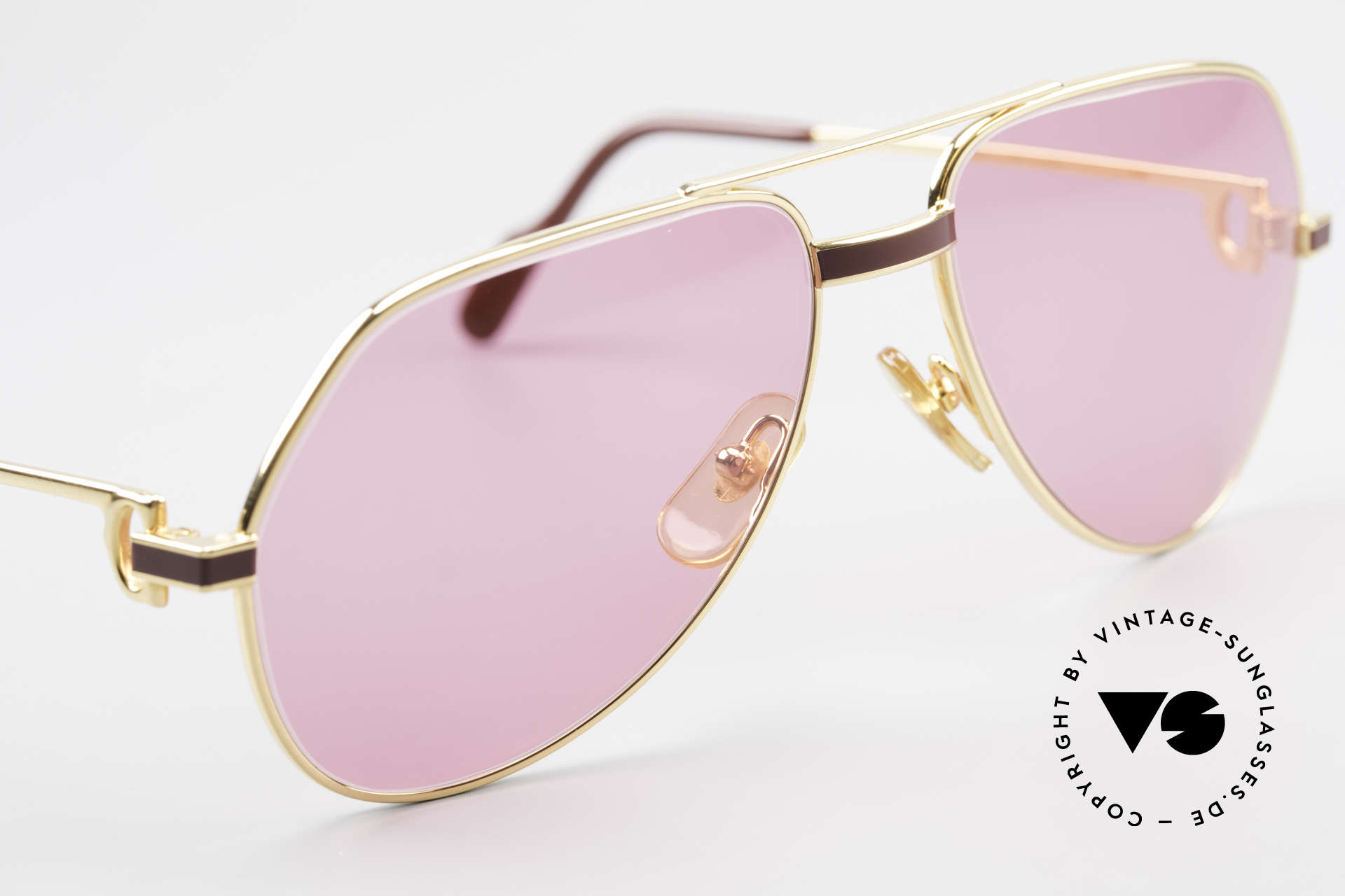 Cartier Vendome Laque - S 80's Luxury Sunglasses Pink, unworn rarity: hard to find in this condition, these days, Made for Men and Women