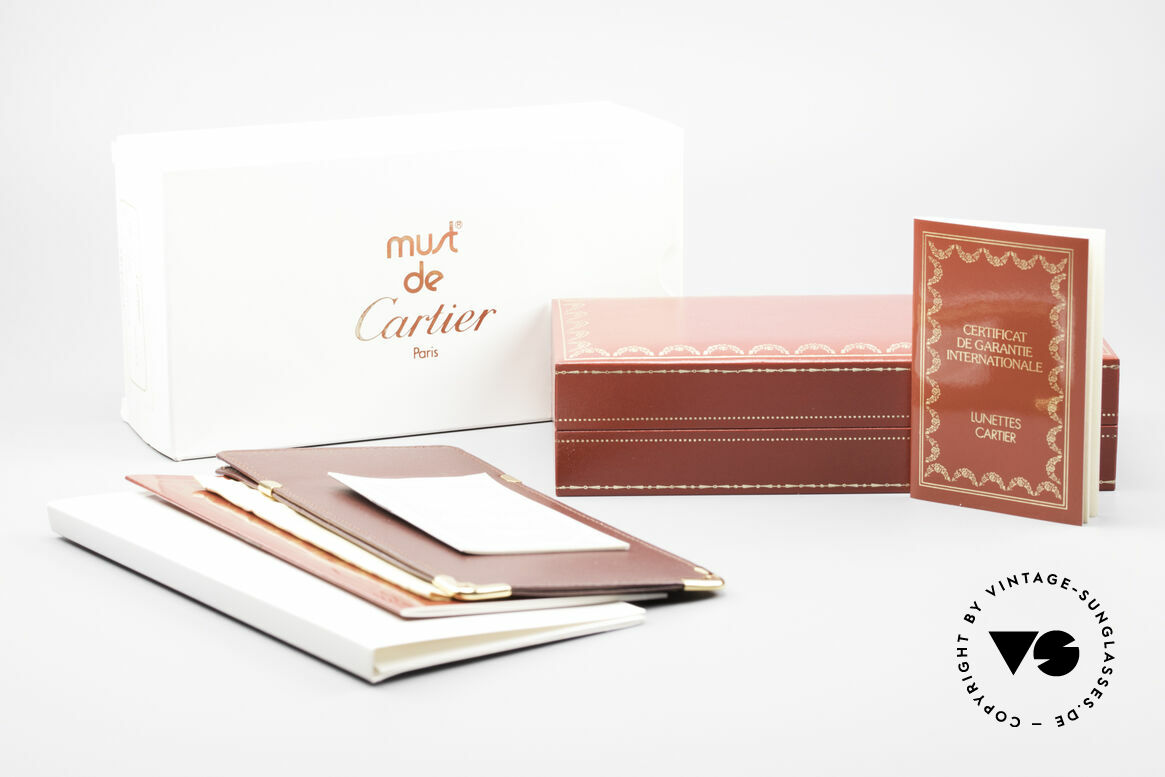 Cartier Vendome Laque - S 80's Luxury Sunglasses Pink, NO retro eyeglasses, but an authentic vintage ORIGINAL, Made for Men and Women