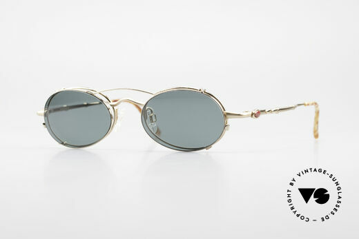 Bugatti 29710 Vintage Glasses with Sun Clip Details