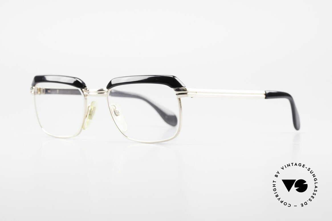 Metzler JK Gold Filled 60's Glasses Frame, 1/10 of the metal with 12ct gold (incredible top-quality), Made for Men