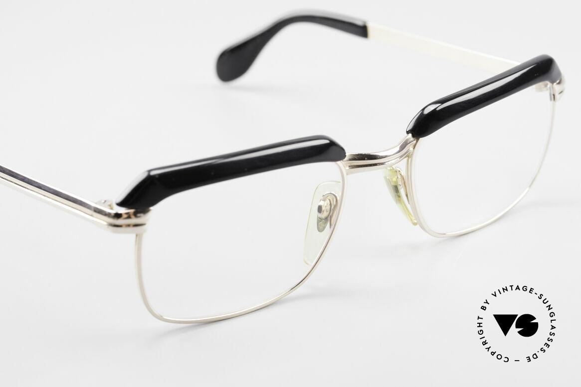 Metzler JK Gold Filled 60's Glasses Frame, professional refurbished with new transparent demo lenses, Made for Men
