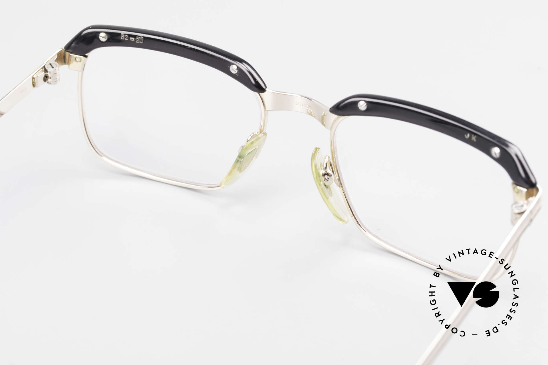 Metzler JK Gold Filled 60's Glasses Frame, but this quality frame can be glazed with lenses of any kind, Made for Men