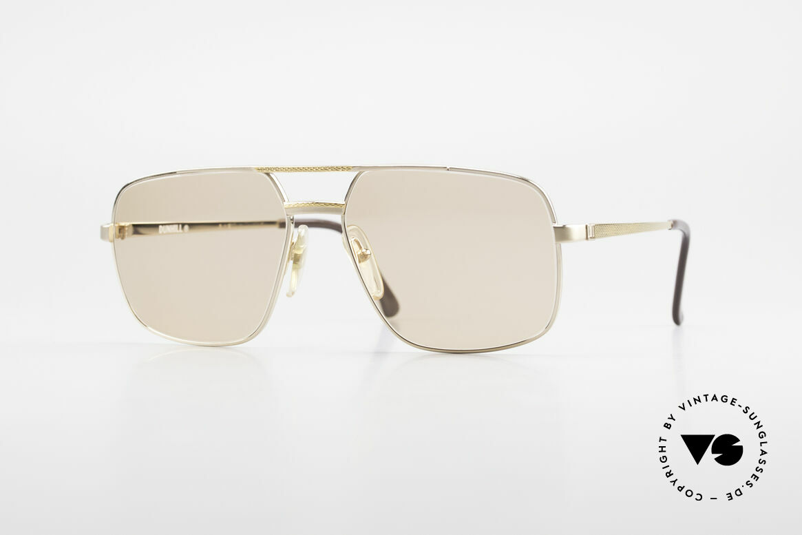 Dunhill 6068 Gold Plated Frame Changeable, LUXURY vintage sunglasses by A. DUNHILL from 1987, Made for Men