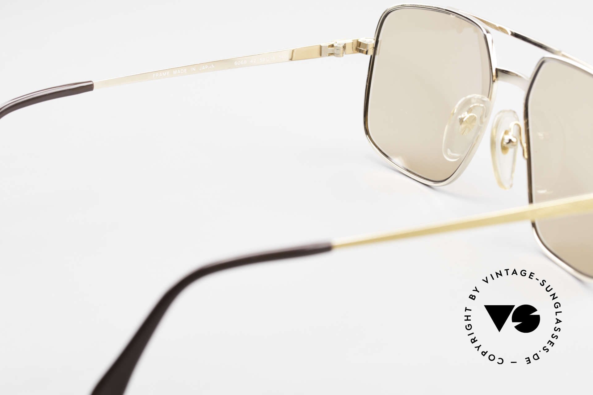 Dunhill 6068 Gold Plated Frame Changeable, NO RETRO SUNGLASSES, but a precious old ORIGINAL!, Made for Men