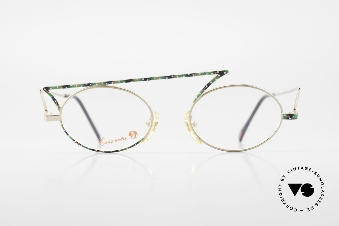 Casanova LC30 ZigZag Glasses True Vintage, zigzag Casanova vintage eyeglasses from around 1985, Made for Men and Women