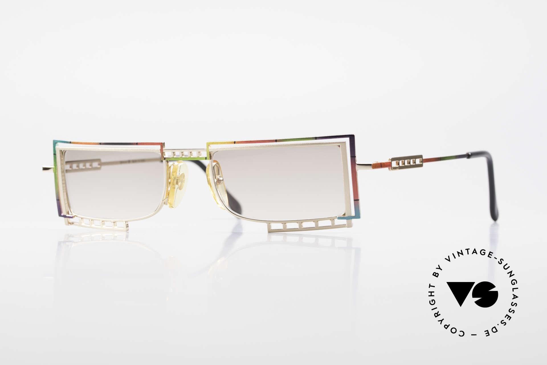 Casanova LC4 Square Vintage Sunglasses, glamorous CASANOVA sunglasses from around 1985, Made for Men and Women