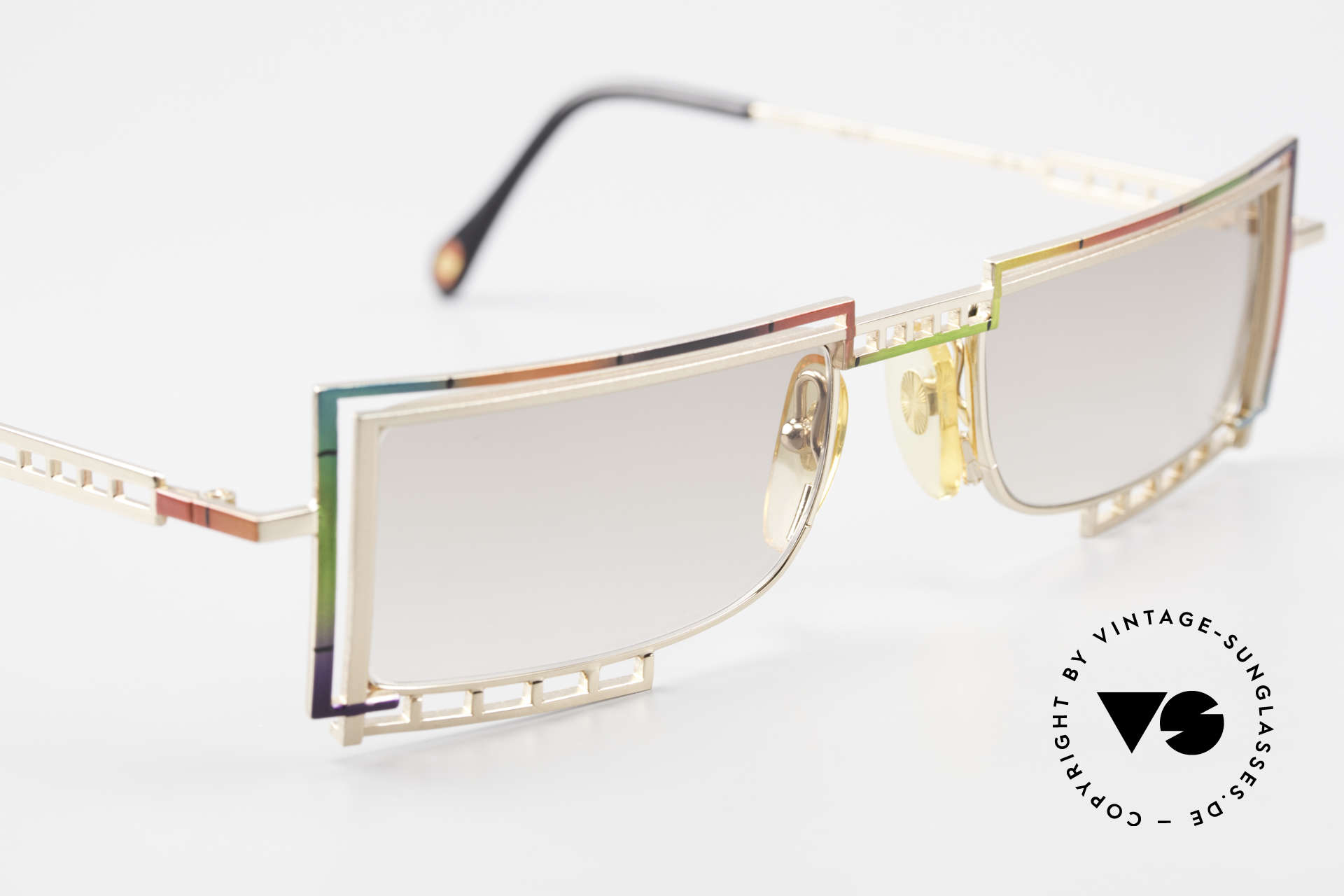 Casanova LC4 Square Vintage Sunglasses, NO retro shades, but a unique old designer ORIGINAL, Made for Men and Women