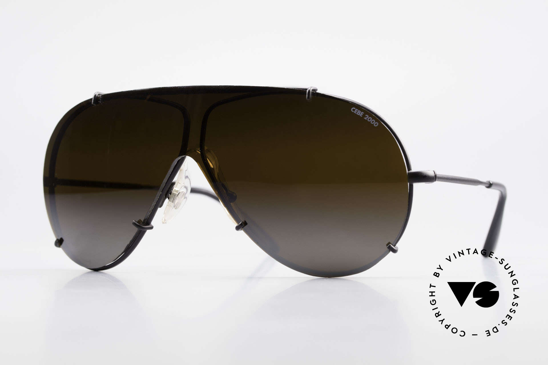 Cebe 2000 Rare Ral­lye Sports Sunglasses, vintage CEBE sports shades - made for extreme purpose, Made for Men