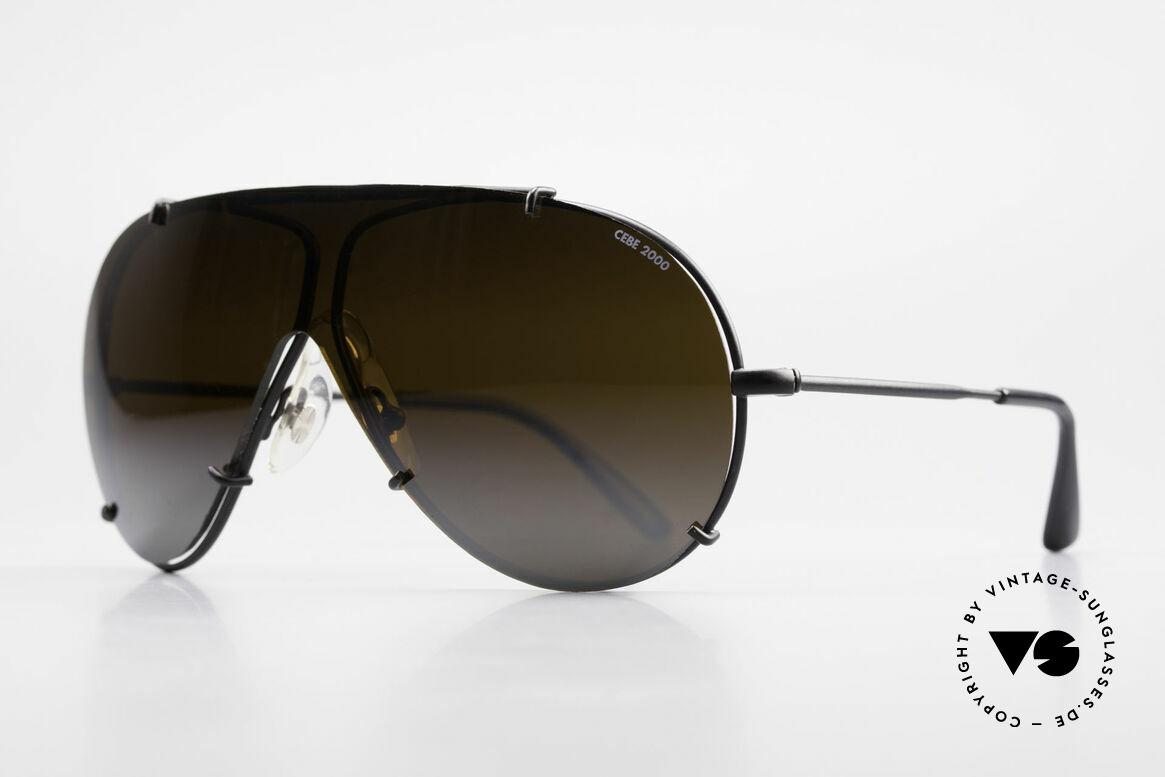 Cebe 2000 Rare Rallye Sports Sunglasses, mirrored sun-shade (for high sun intensity), 100% UV!, Made for Men