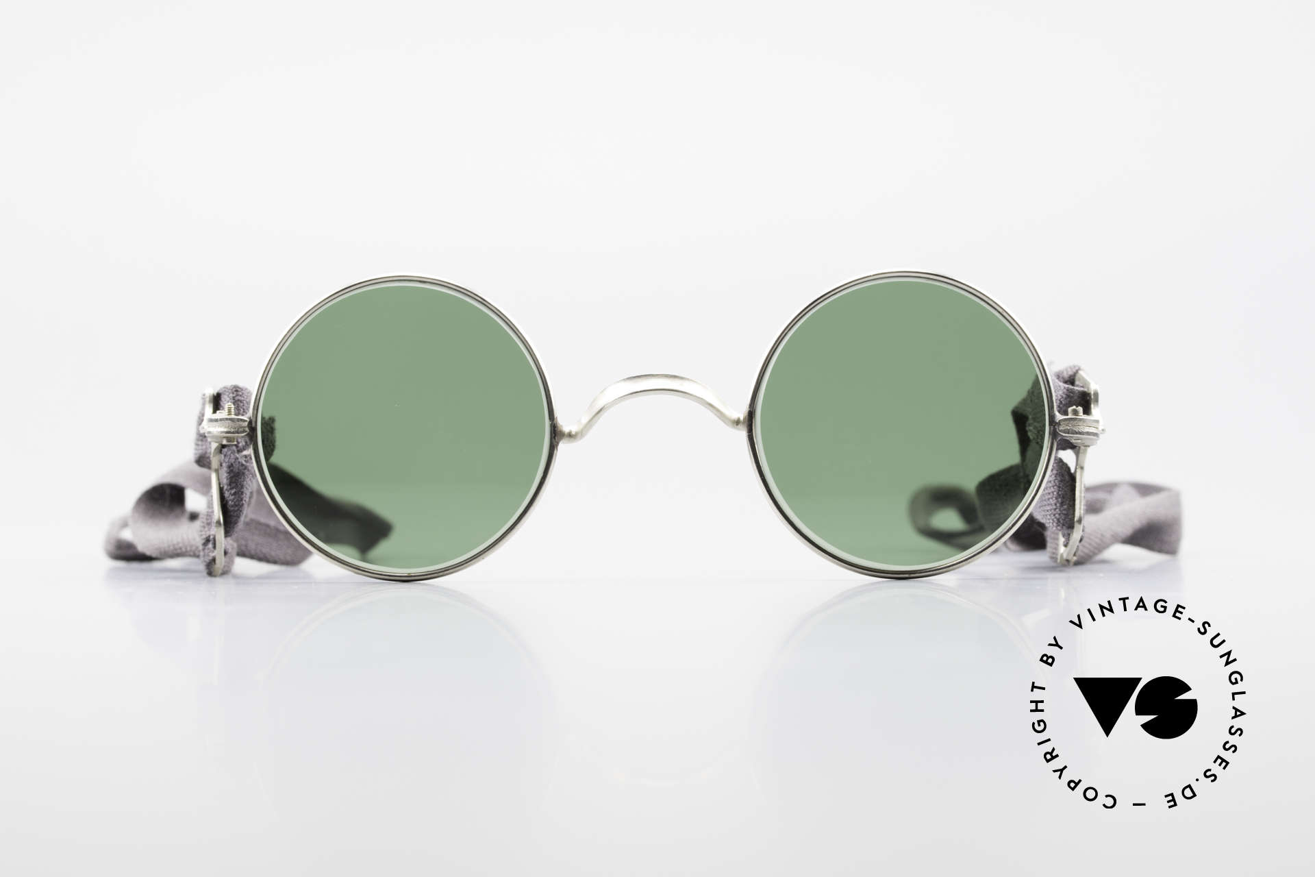 Militärbrille Round Old Army Military Sunglasses, straps instead of temples; simple & functional, Made for Men