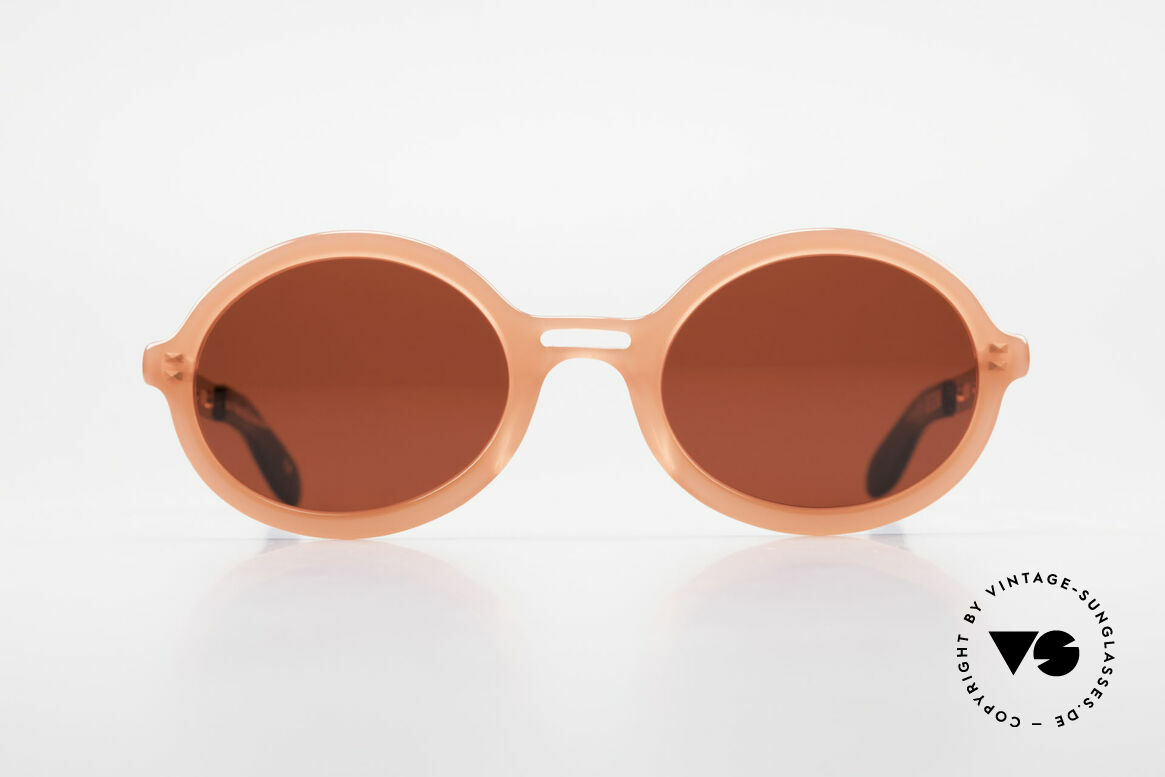 IDC I067 Fun Sunglasses Steampunk 90s, gaudy sun lenses in 3D-red; rather FUN sunglasses, Made for Women