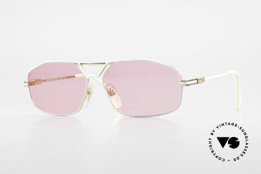 Cazal 729 Pink Vintage Sunglasses 80's Details