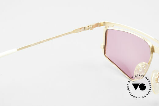 Cazal 235 Vintage Cazal Titanium Frame, the fancy pink sun lenses could be replaced optionally, Made for Men and Women