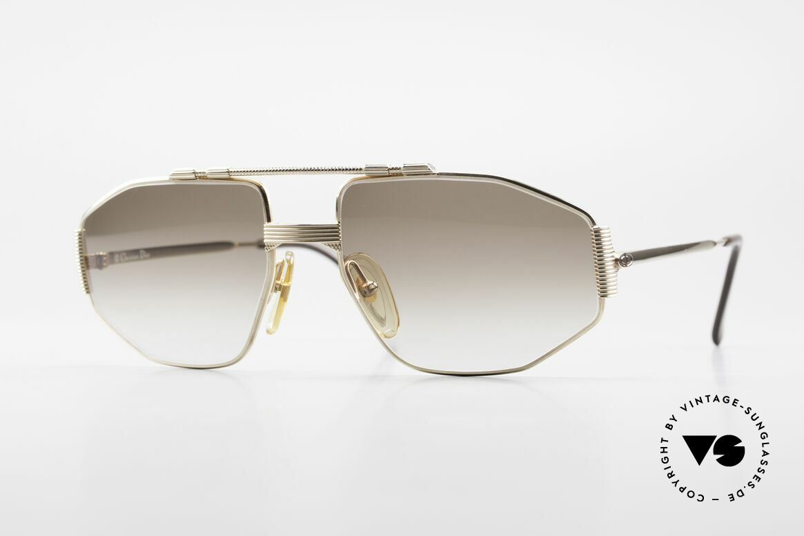 Christian Dior 2516 80's Gold Plated Sunglasses, exquisite Christian Dior vintage shades from 1986, Made for Men