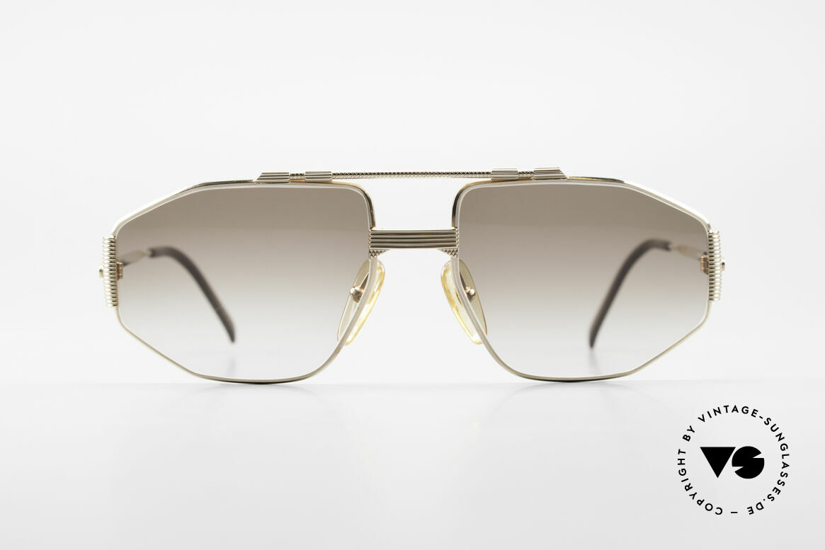 Christian Dior 2516 80's Gold Plated Sunglasses, striking gent's model & masterly made metal frame, Made for Men