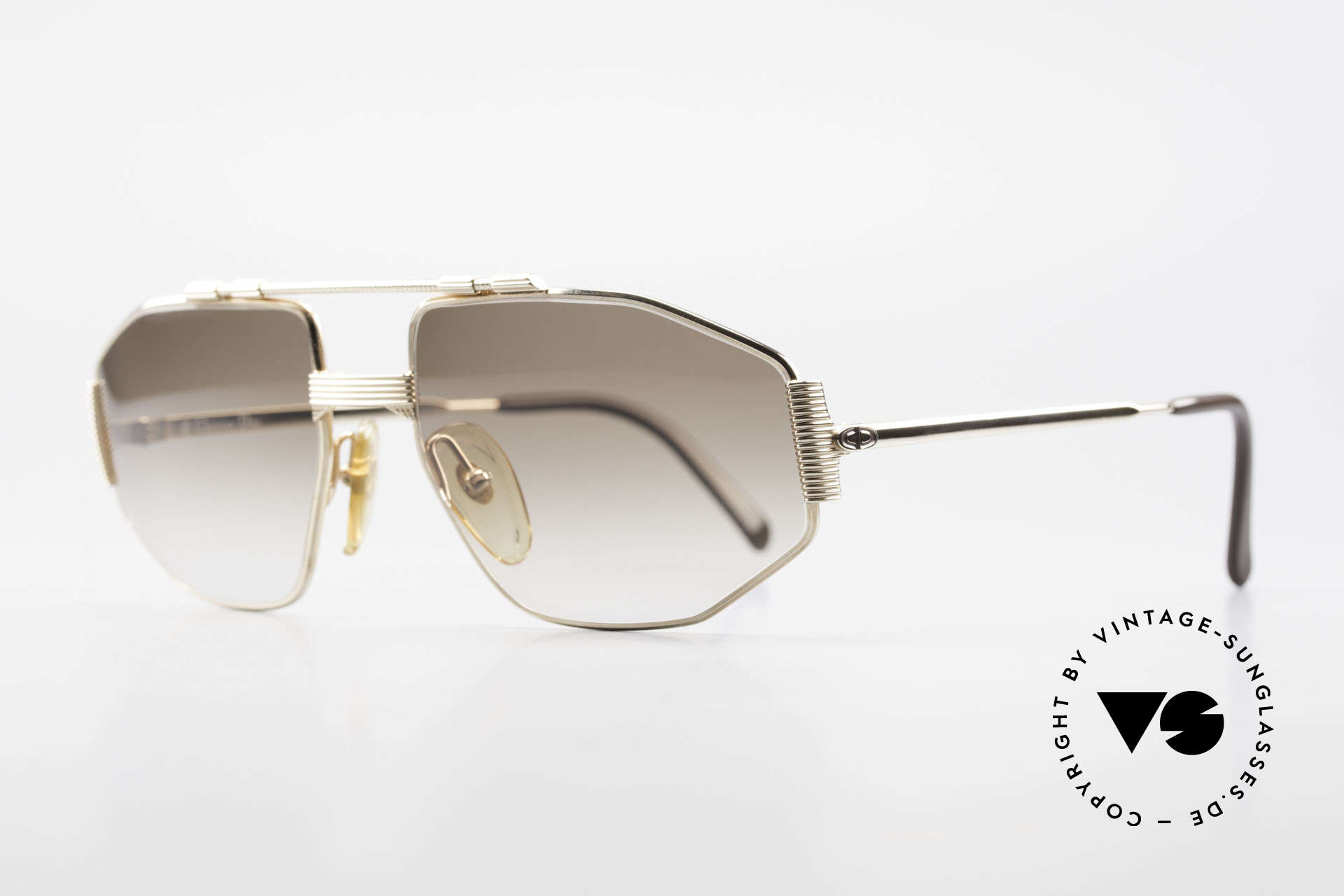 Christian Dior 2516 80's Gold Plated Sunglasses, 1st class wearing comfort and HARD GOLD-PLATED, Made for Men