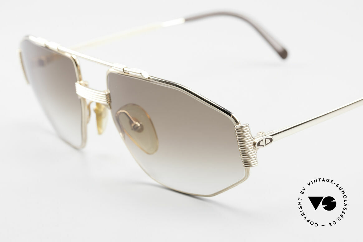 Christian Dior 2516 80's Gold Plated Sunglasses, unworn (like all our vintage C.Dior eyeglass-frames), Made for Men