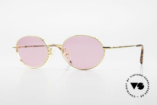 Christian Dior Edith Oval Vintage Frame GoldPlated Details