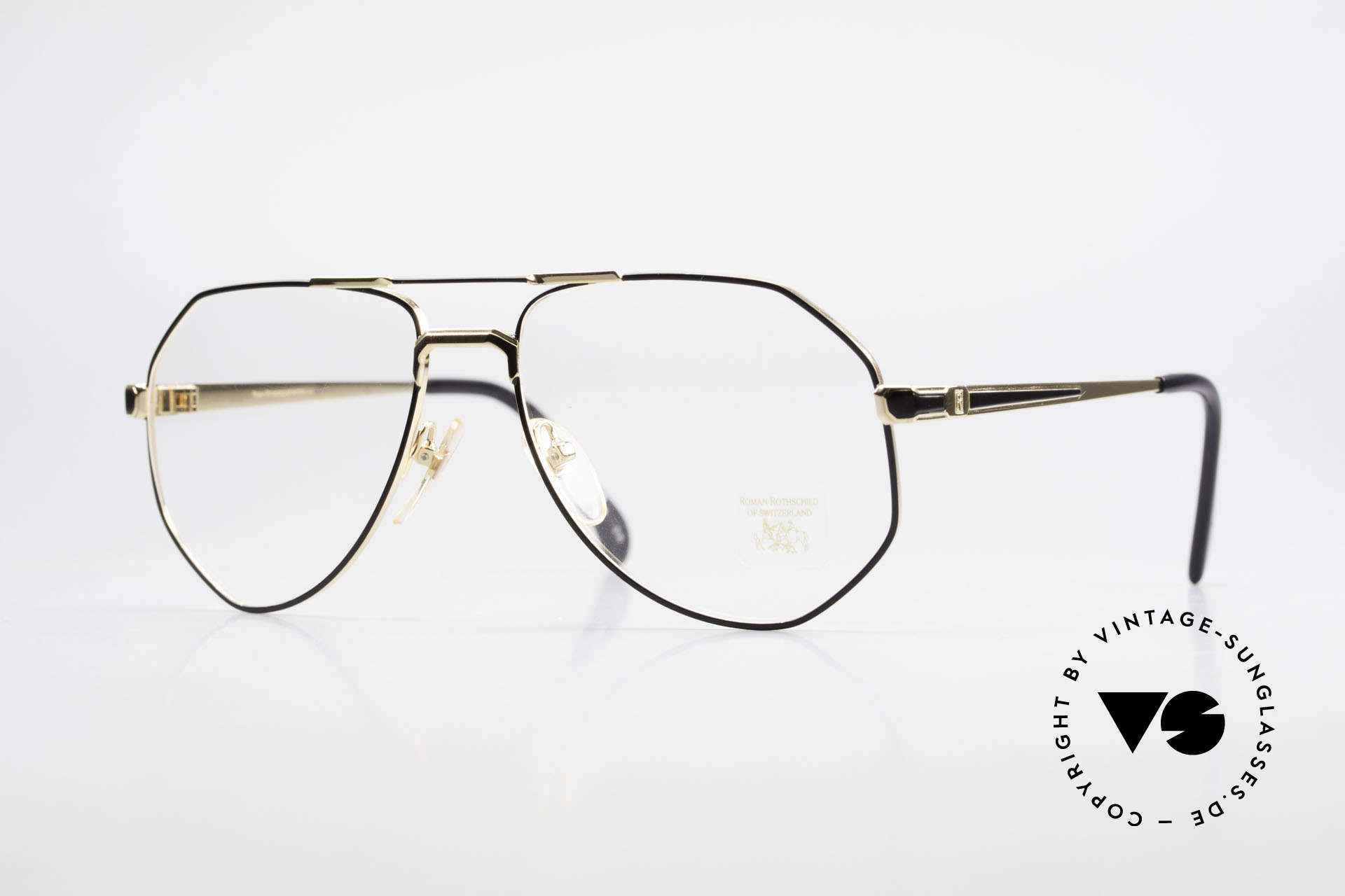 Roman Rothschild R16 Gold Plated Luxury Glasses, Roman ROTHSCHILD of Switzerland luxury eyeglasses, Made for Men