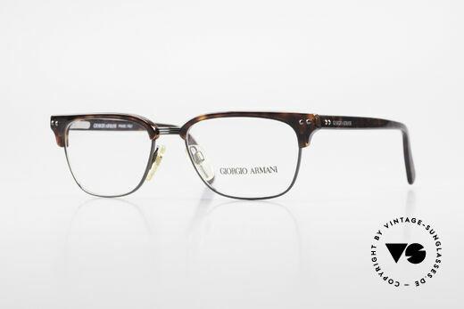 Giorgio Armani 381 Vintage Specs Clubmaster Style Details