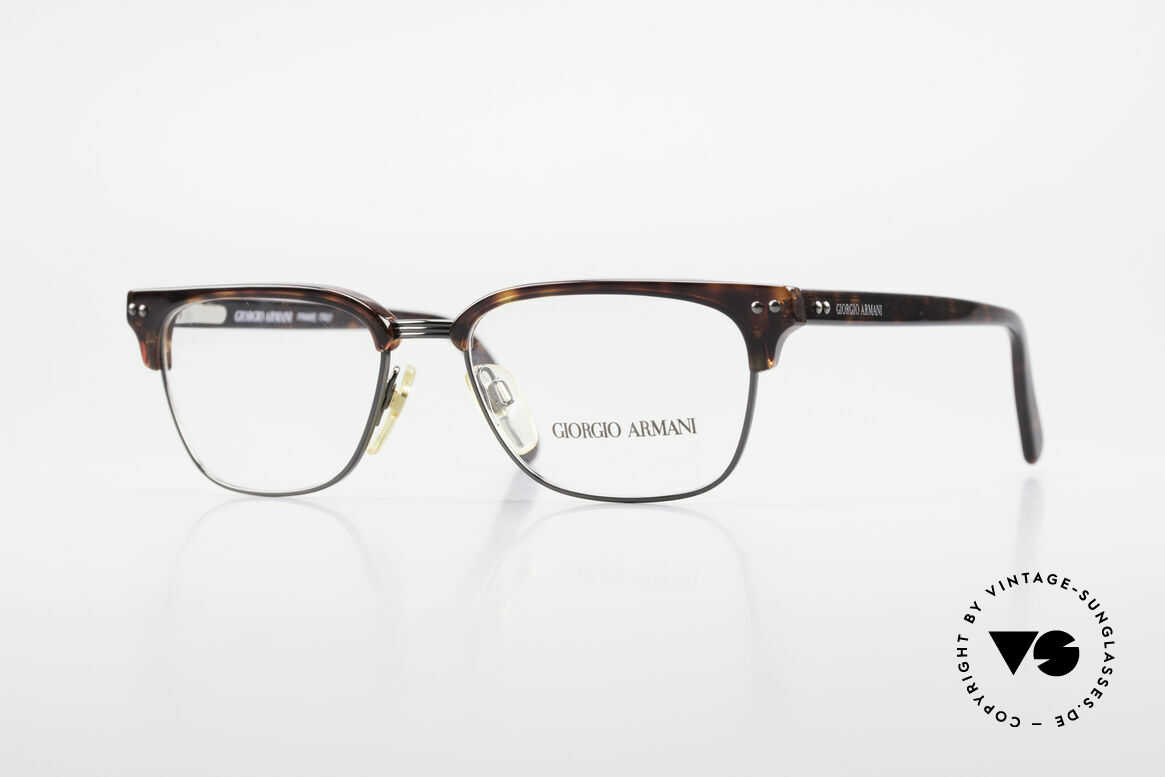 Giorgio Armani 381 Vintage Specs Clubmaster Style, timeless vintage Giorgio ARMANI designer eyeglasses, Made for Men