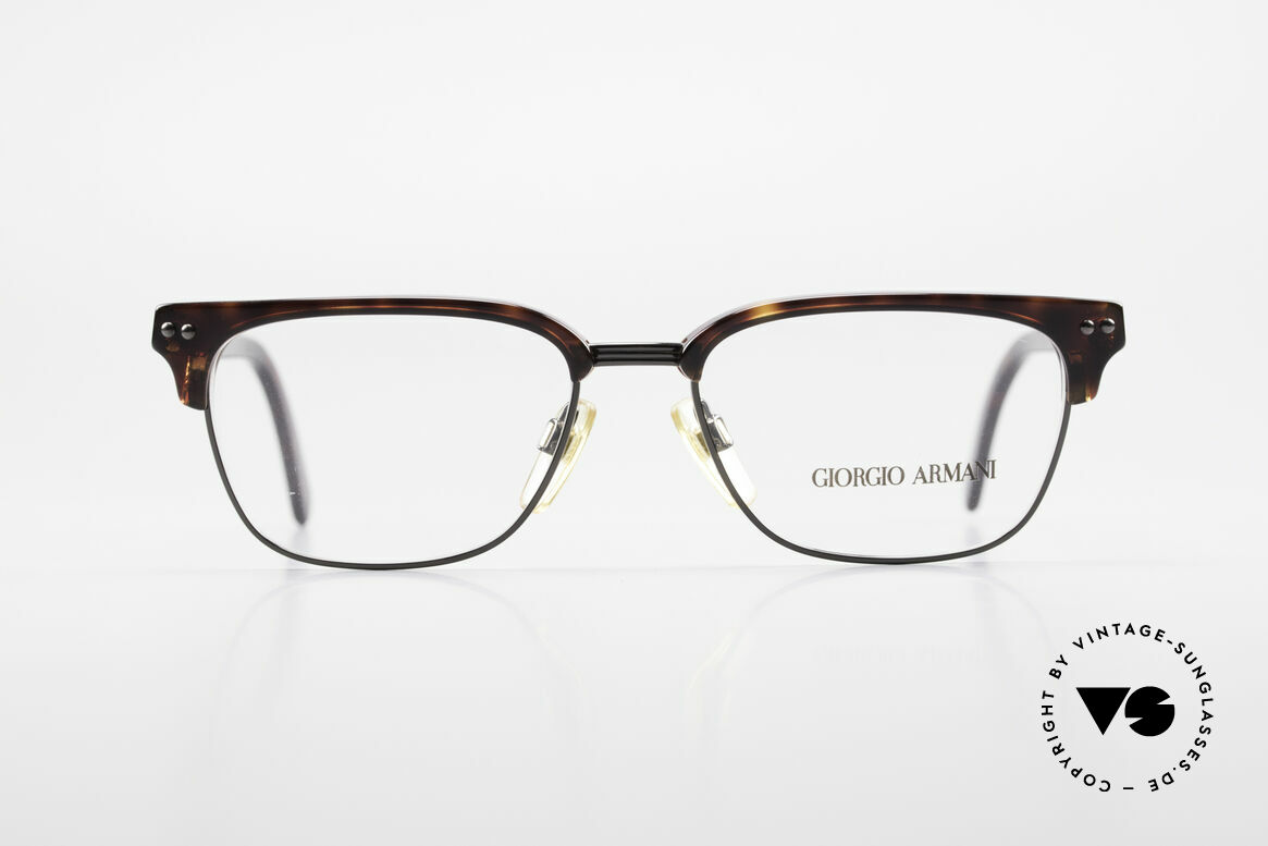 Giorgio Armani 381 Vintage Specs Clubmaster Style, a real classic: famous 'panto'-design (simply elegant), Made for Men