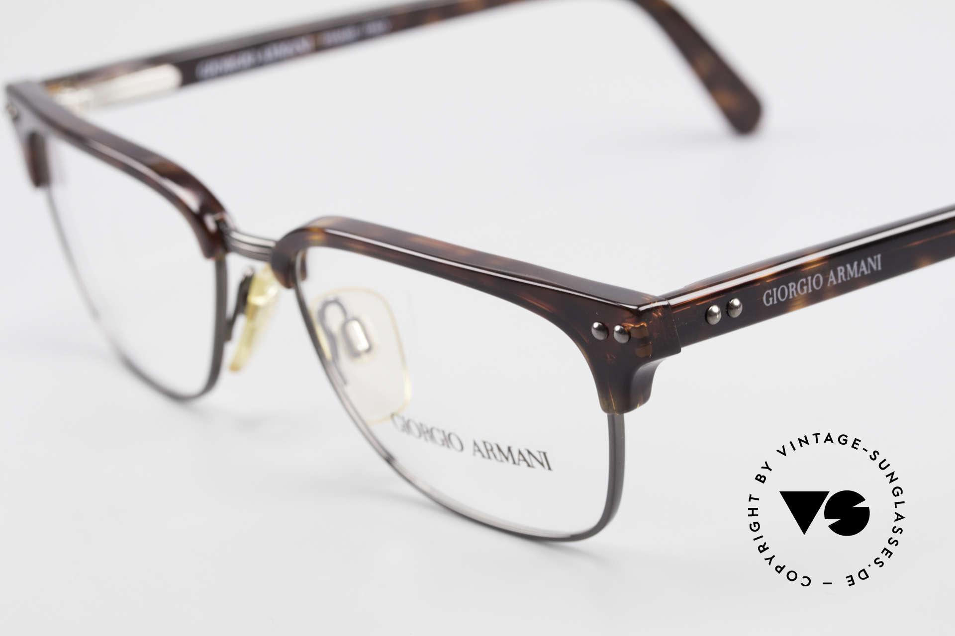 Giorgio Armani 381 Vintage Specs Clubmaster Style, unworn (like all our vintage Giorgio Armani eyewear), Made for Men