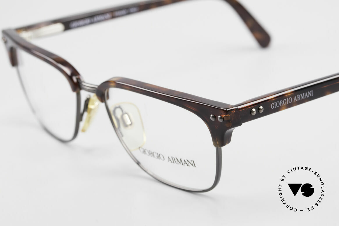 Giorgio Armani 381 Vintage Specs Clubmaster Style, unworn (like all our vintage Giorgio Armani eyewear), Made for Men