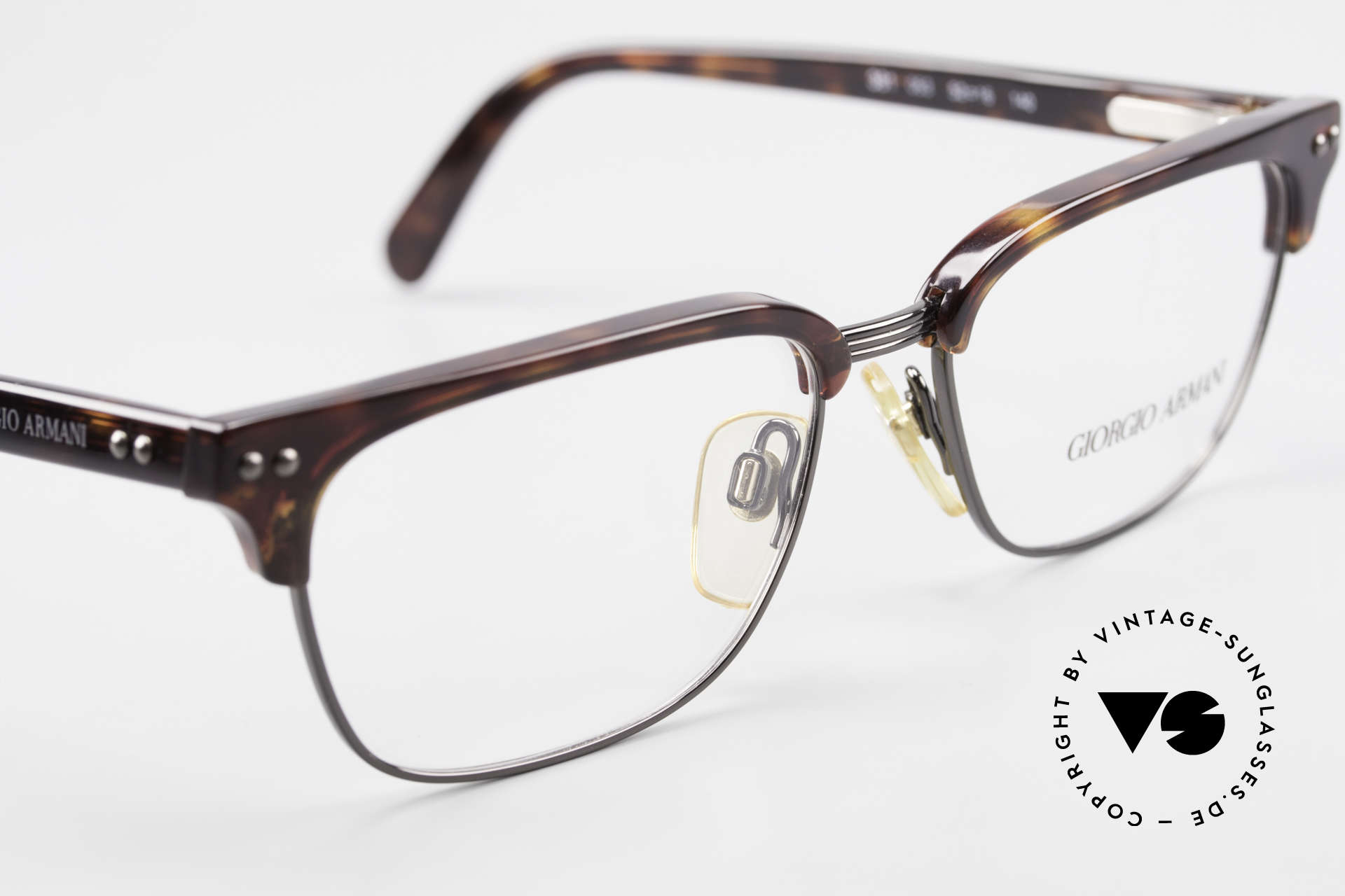 Giorgio Armani 381 Vintage Specs Clubmaster Style, NO retro glasses, but a unique 25 years old ORIGINAL, Made for Men