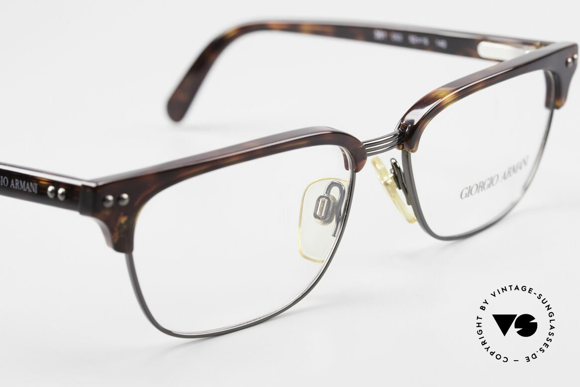 Giorgio Armani 381 Vintage Specs Clubmaster Style, NO retro glasses, but a unique 25 years old ORIGINAL, Made for Men