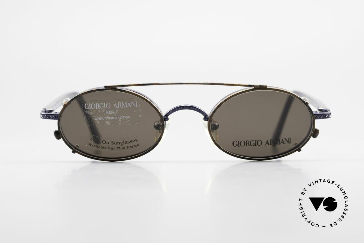 Giorgio Armani 250 Vintage Clip On Designer Frame, timeless Giorgio ARMANI vintage designer sunglasses, Made for Men and Women