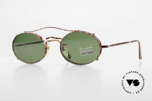 Giorgio Armani 128 Clip On Vintage Designer Frame Details