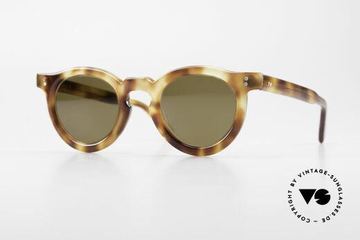 Lesca Panto 4mm Old 1960's Sunglasses France Details
