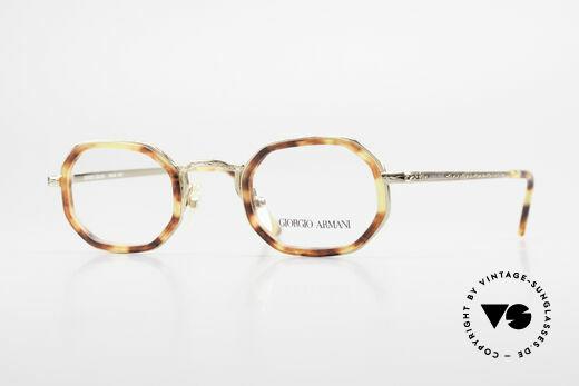 Giorgio Armani 143 Octagonal Vintage Eyeglasses Details